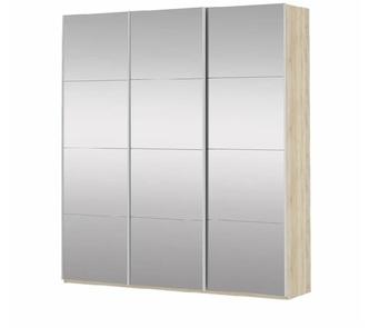 Шкаф-Купе Прайм 3-х дверный Зеркало 3 двери , 2100х570х2300 мм, Е1