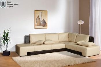 Угловой диван Премьер 2850х2100 с блоком независимых пружин, Боровичи мебель