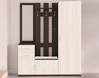Прихожая Дуэт, вариант № 1, 1624х1995х385, Боровичи мебель
