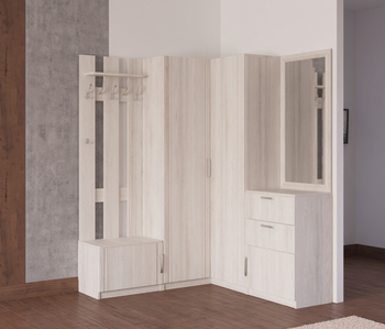 Прихожая Лотос, вариант № 3, 1470/1495х385х1990 мм, Боровичи мебель