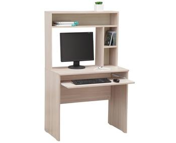 10.05 Стол компьютерный с настольной полкой, 845x485x1440, Боровичи мебель
