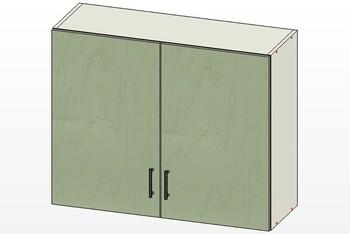 Шкаф 2 двери 900х300х720, 1 кат., Лопасня мебель