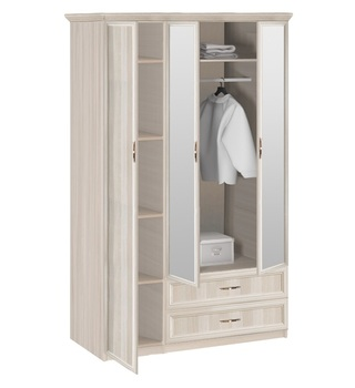 7.016Z Классика, Шкаф 3-х дверный с зеркалом, 1320х2035х572, Боровичи Мебель