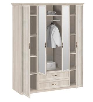 7.16 Классика, Шкаф 4-х дверный с зеркалом, 1740х2420х572, Боровичи мебель