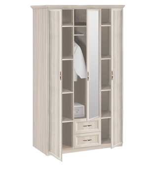 7.19 Классика, Шкаф 3-х дверный с зеркалом, 1320х2420х572, Боровичи мебель
