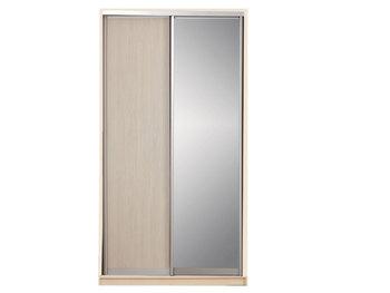Шкаф-купе, 1200х450/600х2200 мм, 2-х дверный с зеркалом, Боровичи мебель