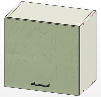 Шкаф горизонт газлифт, 1 дверь 500х303х460, 1 кат. Лопасня мебель