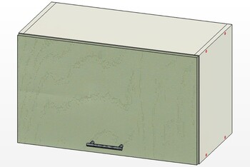 Шкаф горизонт газлифт, 1 дверь 600х303х360, 1 кат. Лопасня мебель