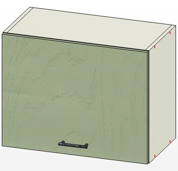 Шкаф горизонт газлифт, 1 дверь 600х303х460, 1 кат. Лопасня мебель