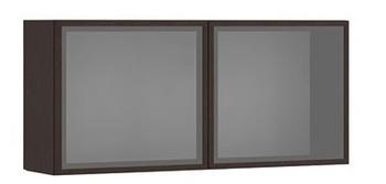 7.33 Шкаф настенный со стеклом 1200х575х290, серия Сити