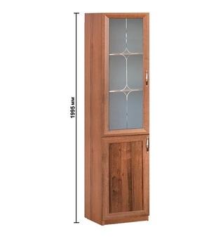 18.10 Плаза, Шкаф со стеклом 500х1995х380, Боровичи мебель