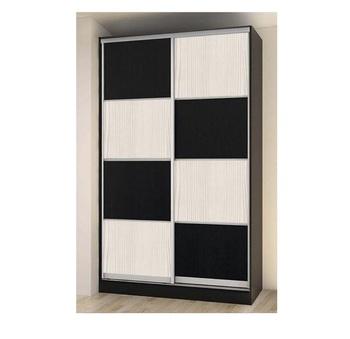 Шкаф-купе Модерн, 1755х450х2300 мм, 2-х дверный со вставками Венге/Авола, Боровичи мебель