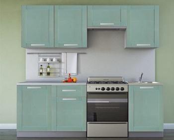 Кухня Симпл 2100 мм, массив,  Боровичи мебель