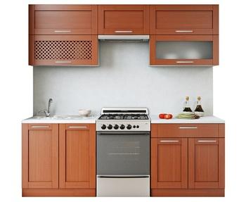 Кухня Симпл массив с решеткой 2200 мм, Боровичи мебель
