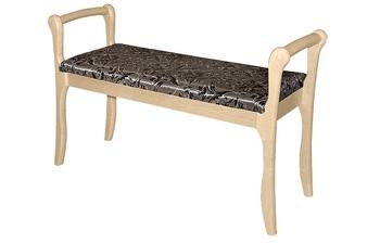 Скамья для прихожей с подлокотниками мягкая, Элегия, Боровичи мебель