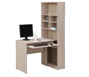 10.04 Стол компьютерный со стеллажом, 760х550х1770, Боровичи мебель