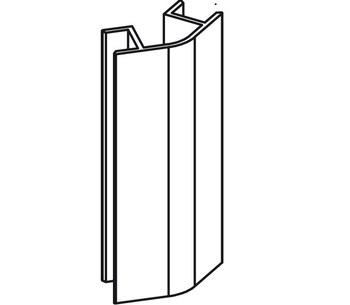 Соединение 135 L=150 мм для цокольного профиля