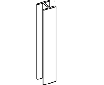 Соединение 180 L=150 мм для цокольного профиля