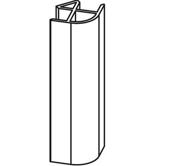 Соединение угловое 90 L=150 мм для цокольного профиля