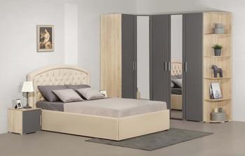 Спальня Блюз Спальня 1310/2470х600х2224, Элегия, Боровичи