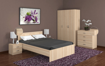Спальня Лотос, вариант № 7, Боровичи мебель