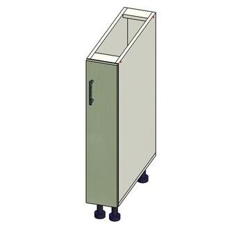 Стол 1 дверь, 150х515х820, 1 кат. Лопасня мебель