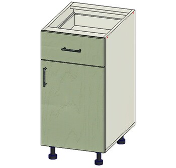 Стол 1 ящик МБ, 1 дверь 400х515х820, 1 кат. Лопасня мебель