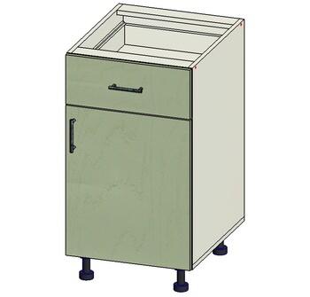 Стол 1 ящик МБ, 1 дверь 450х515х820, 1 кат. Лопасня мебель