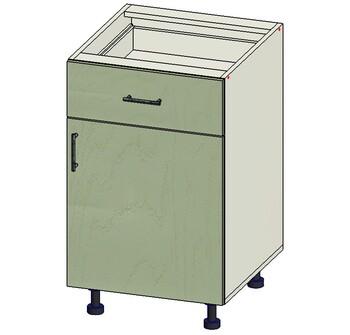 Стол 1 ящик МБ, 1 дверь 500х515х820, 1 кат. Лопасня мебель