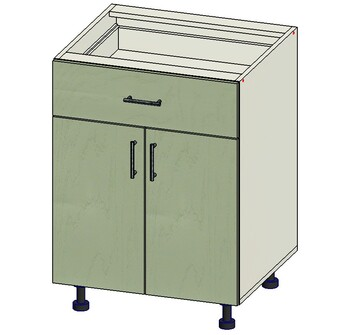 Стол 1 ящик МБ, 2 двери 600х515х820, 1 кат. Лопасня мебель