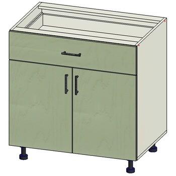Стол 1 ящик МБ, 2 двери 800х515х820, 1 кат. Лопасня мебель