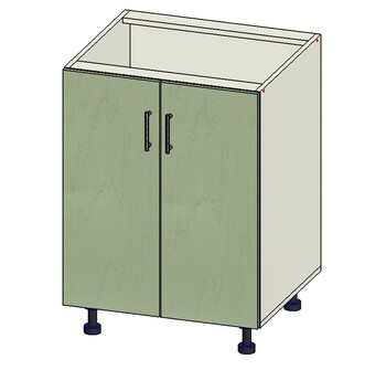 Стол 2 двери, 600х515х820, 1 кат. Лопасня мебель