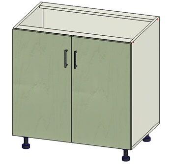 Стол 2 двери, 800х515х820, 1 кат. Лопасня мебель