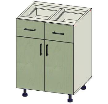 Стол 2 ящика МБ, 2 двери 600х515х820, 1 кат. Лопасня мебель