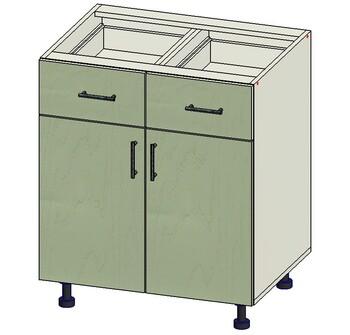 Стол 2 ящика МБ, 2 двери 700х515х820, 1 кат. Лопасня мебель