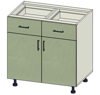 Стол 2 ящика МБ, 2 двери 800х515х820, 1 кат. Лопасня мебель