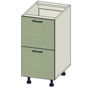 Стол 2 ящика МБ, 400х515х820, 1 кат. Лопасня мебель