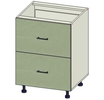 Стол 2 ящика МБ, 600х515х820, 1 кат. Лопасня мебель
