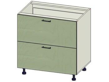 Стол 2 ящика МБ, 800х515х820, 1 кат. Лопасня мебель