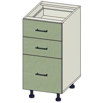 Стол 3 ящика МБ, вариант 1, 400х515х820, 1 кат. Лопасня мебель