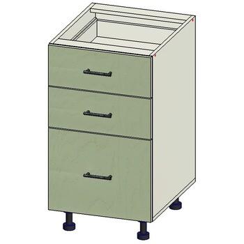 Стол 3 ящика МБ, вариант 1, 450х515х820, 1 кат. Лопасня мебель