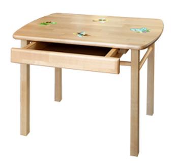 Стол детский прямоугольный с ящиком, Боровичи мебель