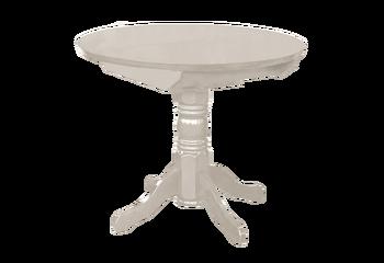 Стол обеденный раздвижной круглая крышка массив 1000х1000 (1300) мм, Боровичи мебель