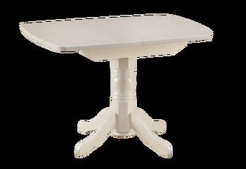 Стол обеденный раздвижной овальная крышка массив 750х1100 (1400) мм, Боровичи мебель