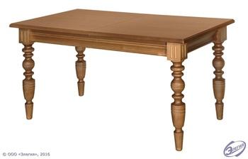 Стол обеденный раздвижной (массив, точеная нога), Элегия, Боровичи
