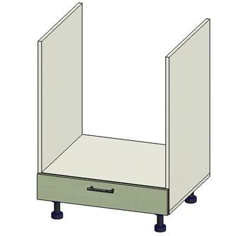 Стол под духовку с ящиком метабокс, вариант № 1, 600х515х820, 1 кат. Лопасня мебель