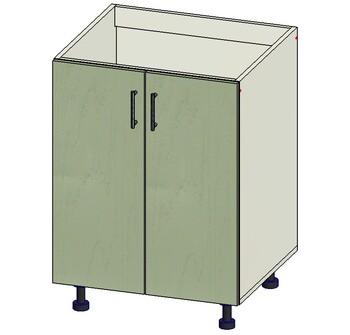 Стол под мойку 2 двери, 600х515х820, 1 кат. Лопасня мебель