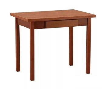 Стол обеденный раскладной с ящиком прямая нога 600x900 (900х1200) мм, Боровичи мебель