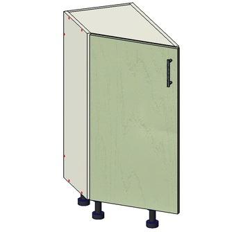 Стол торцевой скошенный 1 дверь, 300х560х820 мм, левый, 1 кат. Лопасня мебель