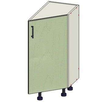Стол торцевой скошенный 1 дверь, 300х560х820 мм, правый, 1 кат. Лопасня мебель